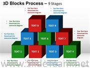 Sales Blocks Process PPT Background
