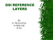 OSI REFERENCE LAYERS