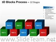Strategy Blocks Process PPT Template