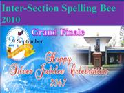 Inter-Section Spelling Bee 2010