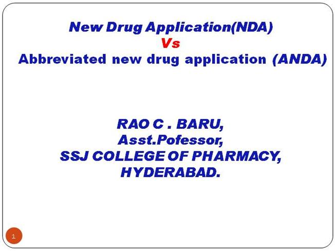 drug export registration ppt