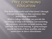 Free Continuing Education