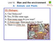 English 6 - Unit 16 - Man and the environment