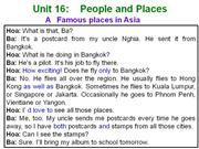 English 7 - Unit 16 - People and places