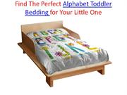 Find The Perfect Alphabet Toddler Bedding for Your Little One