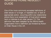 Nursing Home Neglect Guide