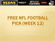 Free NFL Football Pick (Week 12)