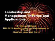 Leadership Management Lecture