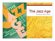 The Jazz Age Rick K.
