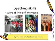 Speaking-Unit 2 The way we live