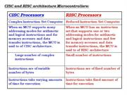 differences between risc & cisc processors