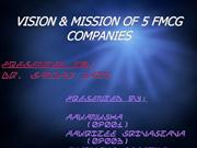 vision & mission of fmcg