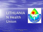 Lithuanian Health Union- 20 years experience