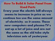 Solar Panels For Home Guide