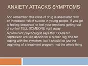 Anxiety Attacks Symptoms