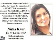 Real Estate Agent(Virginia, Maryland & DC)Nisha Kaur, Top Agent,Best