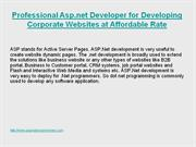 Hire Professional Asp.net Developer for Developing Corporate Websites