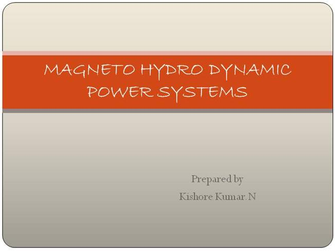 MHD Power Generation |authorSTREAM