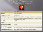 best touch alarm security - for ipod & iphone