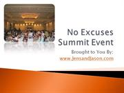 No Excuses Summit Event