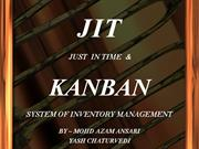 just in time & kanban system of inventory management