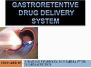 GASTRO RETENTIVE DRUG DELIVERY