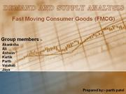 DEMAND AND SUPPLY ANALYSIS ON FMCG GOODS