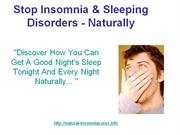 Stop Insomnia & Sleeping disorders
