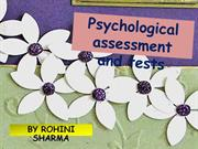 Psychological assessment and tests [Autosaved]