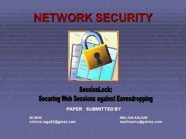 Chapter 8 network security ppt download.