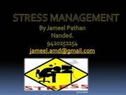 stress management-by Jameel pathan nanded