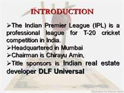 ipl is a business
