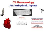 IVMS-CV Pharmacology- Antiarrhythmics