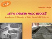 Jeya Vignesh Halo Blocks : Blocks Hollow Manufacturer, Blocks Solid
