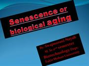Senescence or biological aging