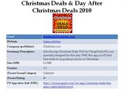christmas deals & day after christmas deals 2010