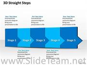 5 Staged Horizontal Flow Diagram For Business