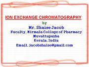 Ion Exchange Chromatography, PPT