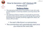 21st century HR professional website slides (audio)
