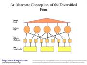 Alternative Conception of the Diversified Firm diagram