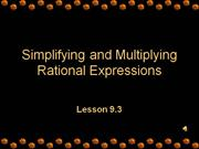 simplifying and multiplying rational expressions