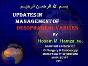 updates in management of Oesophageal Varices