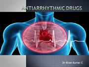 ANTI ARRHYTHMIC DRUGS