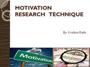 MOTIVATION   RESEARCH   TECHNIQUE