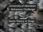 University of Aberdeen - behaviour Challenge