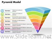 Reverse 3D Pyramid Diagram With Six Stages