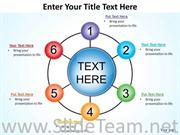 6 Steps Wheel And Spokes PPT Template