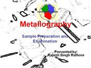 Metallography sample