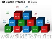 3D Building Blocks For Business Strategy Display