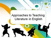 Approaches to Teaching Literature in English